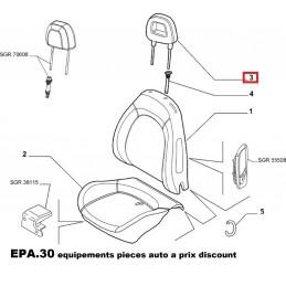 APPUI TETE AVANT FIAT GRANDE PUNTO PUNTO  - EPA30 - .