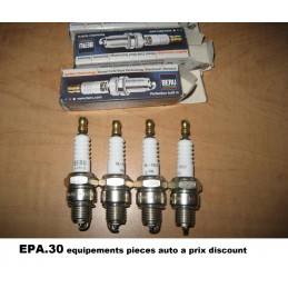 4 BOUGIES ALLUMAGE CITROEN CX FIAT 500 RENAULT R12 R15 R4 R5 R6 RODEO 4 5 6  - EPA30 - .