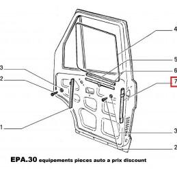 GLISSIERE PORTE GAUCHE COTE CHAUFFEUR FIAT DUCATO TALENTO  - EPA30.