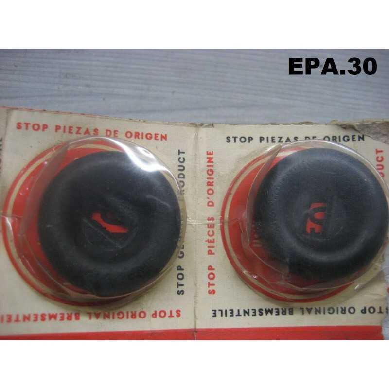2 CAPUCHONS CYLINDRE DE ROUE AVANT RENAULT 4CV R1060 DE 1946 A 1950 - EPA30 - .