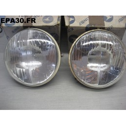 2 PHARES OPTIQUES MONTAGE CE SIMCA 1200 1000 EXPORT - FE1122 - EPA30 - .