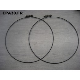 2 COLLIERS DE SOUFFLET MANCHON RADIATEUR CONVOYEUR SIMCA 1000 ET RALLYE 1 - EPA30 - .