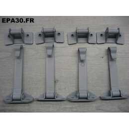 4 TIRANTS PORTES ARRETOIRS SIMCA 1000 ET RALLYE - EPA30 - .