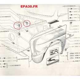10 VIS RONDELLES M6 FIXATION AILES AV AR SIMCA 1000 RALLYE 1 2 3 - EPA6 - EPA30 - .