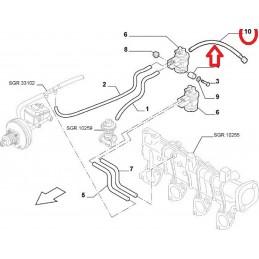 TUYAU DURITE SOLENOIDE FIAT DUCATO 2.0 2.2 JTD 2001 A 2006 - EPA30.