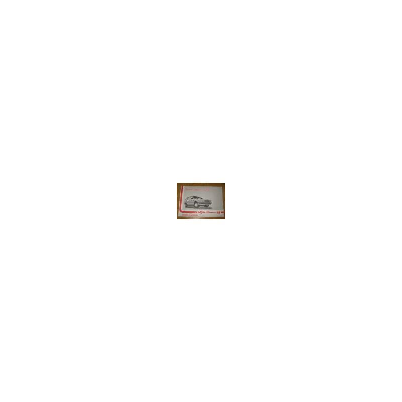 LIVRET CARACTERISTIQUES & SPECIFICATIONS ALFA 33 Sport Wagon - EPA30 - .