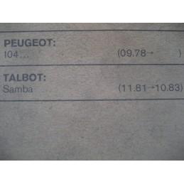VIS PLATINES RUPTEURS PEUGEOT 104 TALBOT SAMBA MONTAGE DUCELLIER  - EPA30.