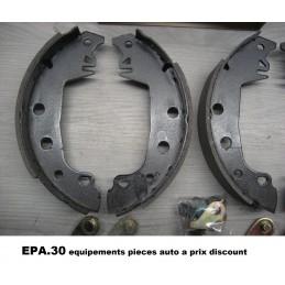 JEU DE 4 MACHOIRES DE FREIN ARRIERE FIAT 131 132ARGENTA - EPA30.