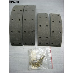 JEU GARNITURES FREIN ARRIERE 222/304x55x5 mm PEUGEOT J7 - EPA30 - .