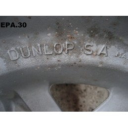 """4 JANTES ALU DUNLOP 13"""" 4X98 5"""" SIMCA 1000 1307 1308 1309 1510 SOLARA HORIZON - EPA30."""