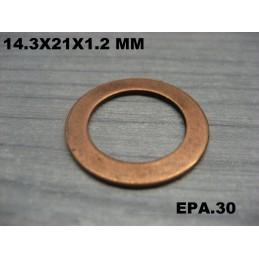 JOINT PLAT CUIVRE FREINAGE 14.3X21X1.2 MM PANHARD OU AUTRES  - EPA30 - .