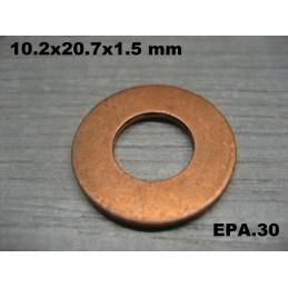 RONDELLE CUIVRE 10.2x20.7x1.5 MM SIMCA RENAULT CITROEN TALBOT MATRA ETC... - EPA30 - .