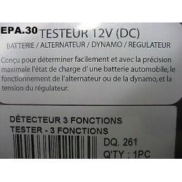 TESTEUR BATTERIE ELECTRONIQUE ALPINE GORDINI SIMCA RALLYE VHC GTV ETC - EPA30 - .