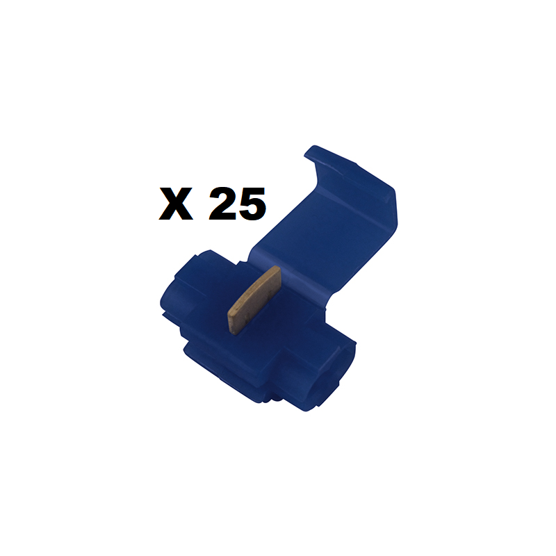 25 COSSES CONNECTEURS RAPIDES BLEU FIL 1 A 2.5 MM2 - EPA30.