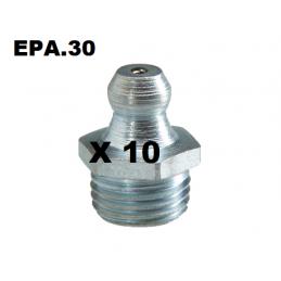 GRAISSEUR (x10) HYDRAULIQUE DROIT M8X125 - EPA30 - .