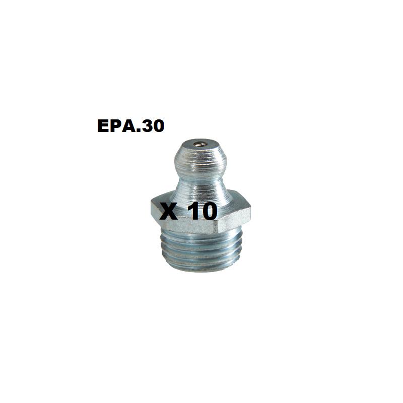 GRAISSEUR (x10) HYDRAULIQUE DROIT M8X125 - EPA30.