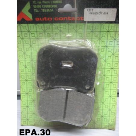 PLAQUETTES FREIN AVANT PEUGEOT 604 TALBOT TAGORA MONTAGE ATE - EPA30 - .