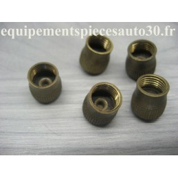 5 BOUCHONS VALVES EN LAITON VEHICULES COLLECTION - EPA30 - .