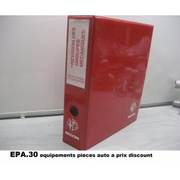 RTA CATALOGUE MANUEL ALFA REVISION BOITE DE VITESSES - PA49410 - EPA30.