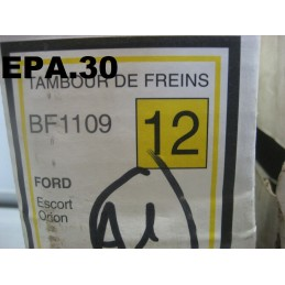 2 TAMBOURS DE FREIN ARRIERE FORD ESCORT ORION DIAM 180 MM SANS ABS - EPA30.
