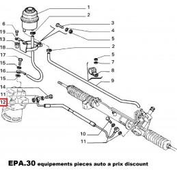 FLEXIBLE TUYAU DE DIRECTION ASSISTEE FIAT CROMA TURBO DIESEL TD  - EPA30.