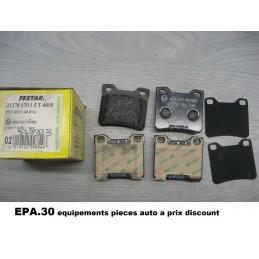 JEU DE 4 PLAQUETTES DE FREIN ARRIERE PEUGEOT 406 605  - EPA30.